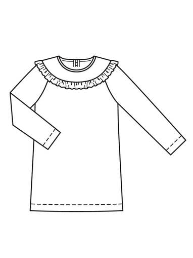 Детское платье с рукавами реглан
