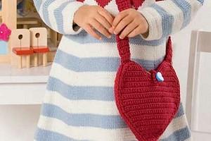 Детская сумочка-сердечко