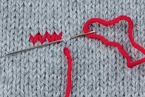 Выполнение вышивки по петлям