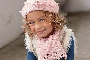 Шапочка и шарф для девочки