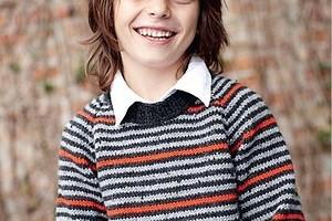 Джемпер в полоску с рукавами реглан