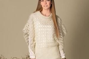 Пуловер с рукавами-«пончо»