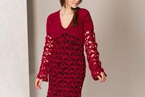 Платье с ажурным узором