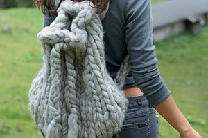 Рюкзак крупной вязки