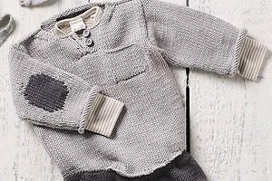 Пуловер с «заплатками» для малышей