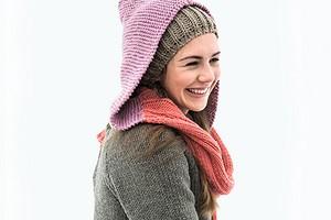 Длинный шарф с капюшоном