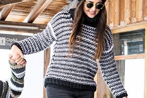Полосатый свитер-унисекс
