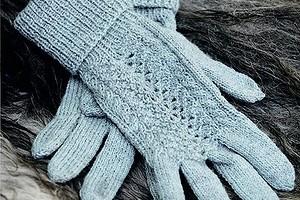 Перчатки с узором «Павлинье перо»