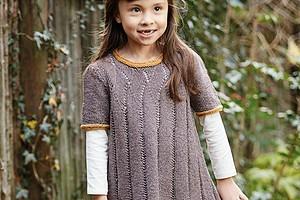 Детское платье с ажурными дорожками