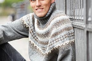 Мужской свитер с круглой кокеткой