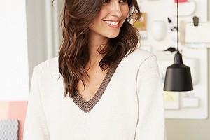Пуловер  с узором «Арлекин»
