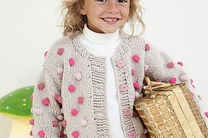 Детская кофта  с цветными «шишечками»
