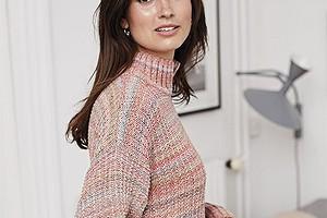 Пастельный свитер с удлиненной спинкой