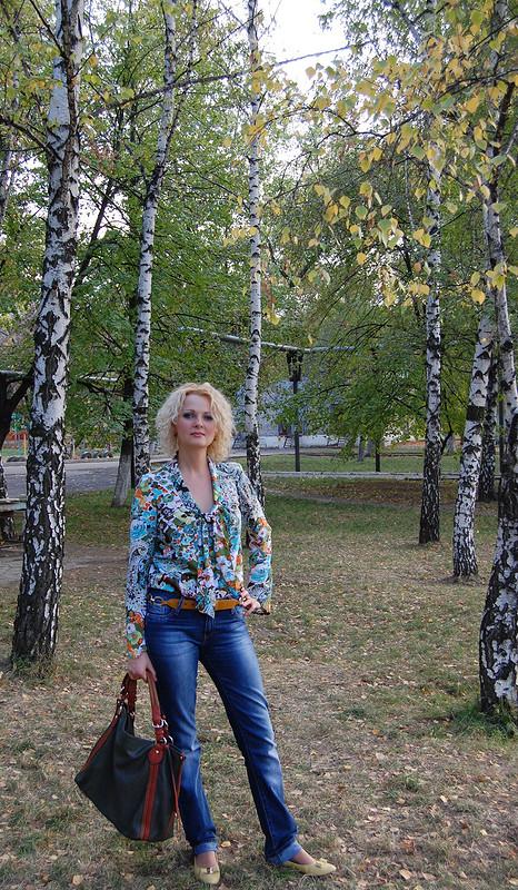Блузка всех цветов осени