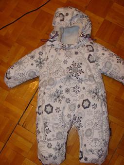 Работа с названием Зимний комбинезон для новорожденного