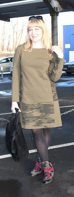Платье встиле милитари