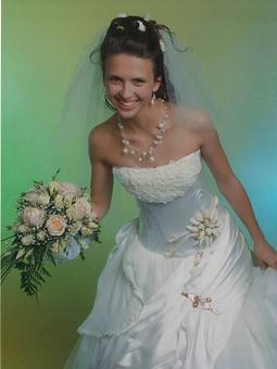 Работа с названием Свадебное платье для невесты сына.