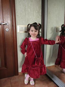 Работа с названием Детское платье с сумочкой