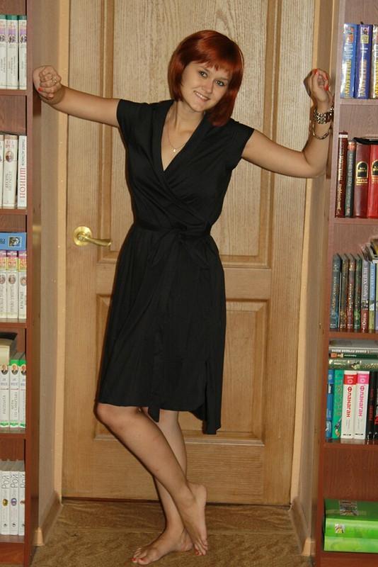 летнее платье-халат сзапахом
