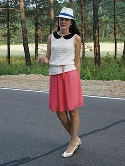 Работа с названием Летняя юбка из шифона