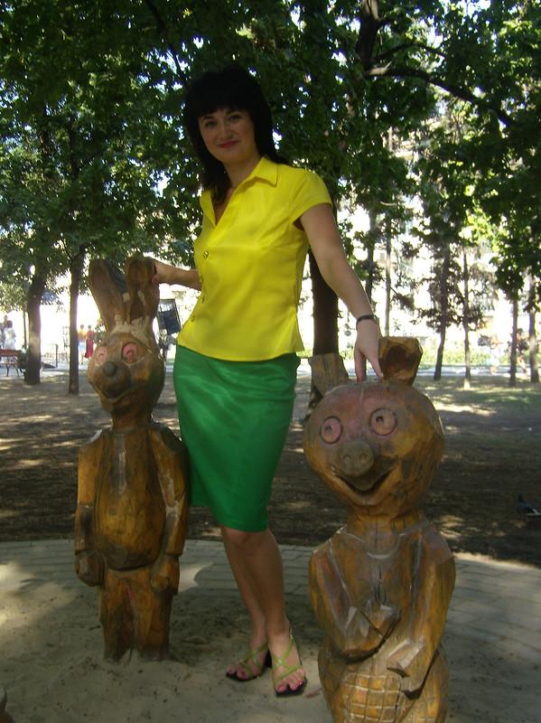 Зелёненькая юбочка от Fotina