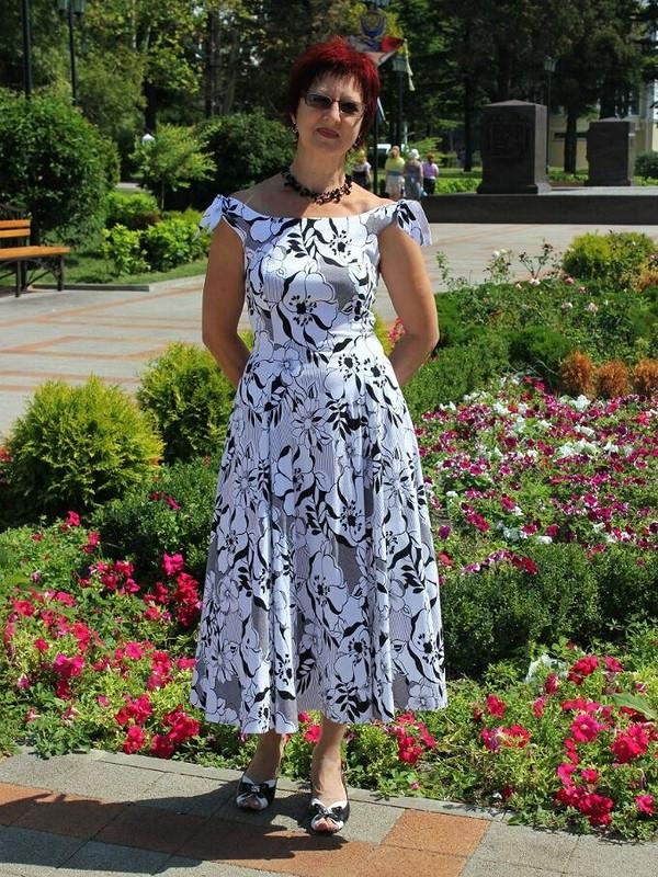 Летнее платье, начерно-белый конкурс