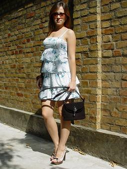 Работа с названием По календарю осень, а на мое платье прилетели стрекозки.