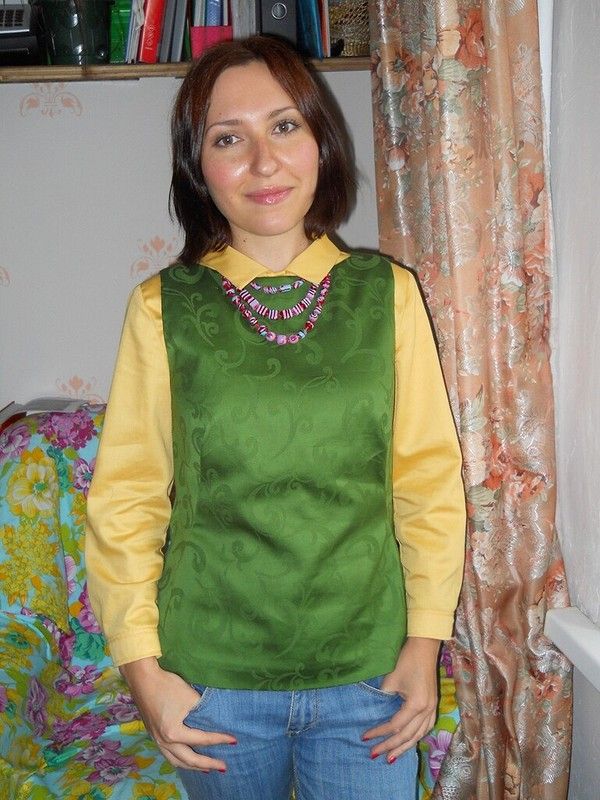 Жилет наоснове блузы 106 C 09/2012