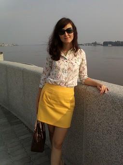 Работа с названием Рубашка с цветочным принтом