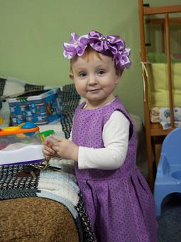 Работа с названием Платье-сарафан для дочки