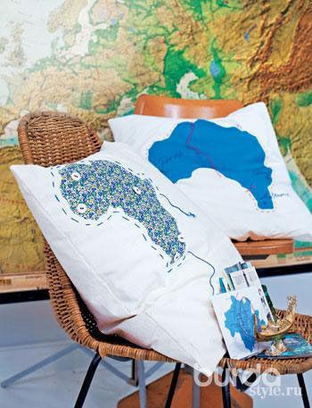 Ностальгический декор изгеографических карт