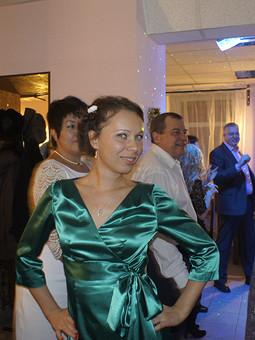 Работа с названием зелёное платье