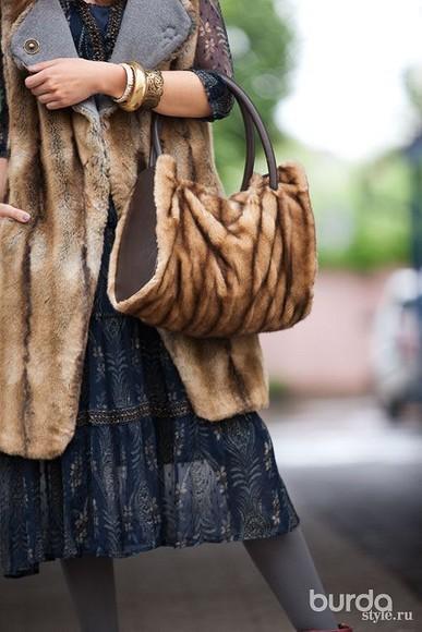 Как сшить меховую сумку своими руками
