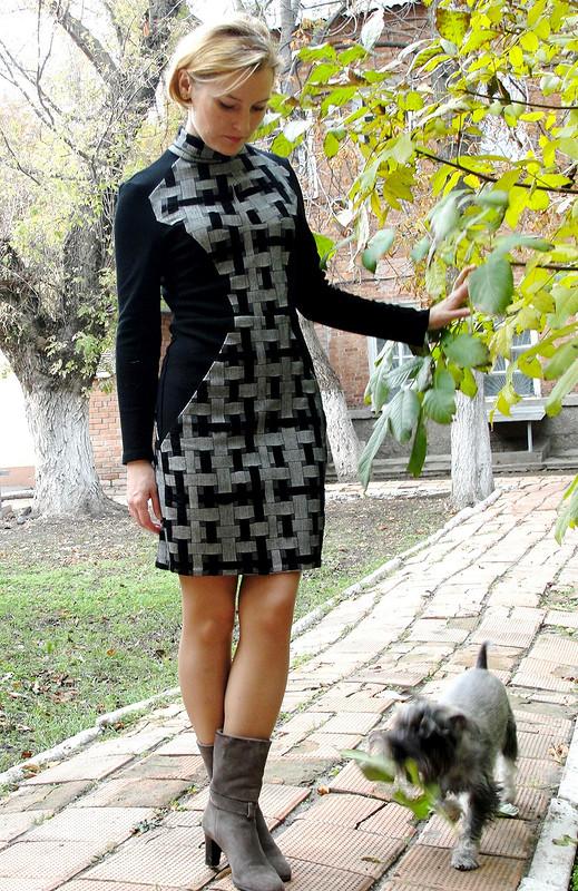 Ломаное черно-серое
