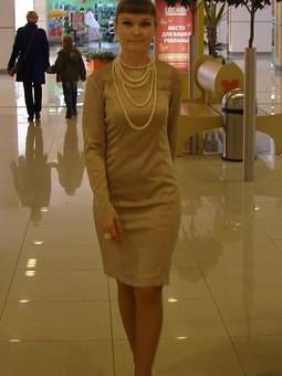 Работа с названием Жемчужное платье