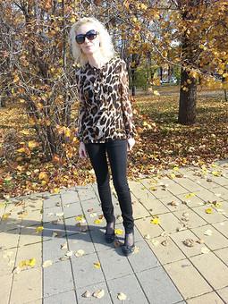 Работа с названием милый леопард