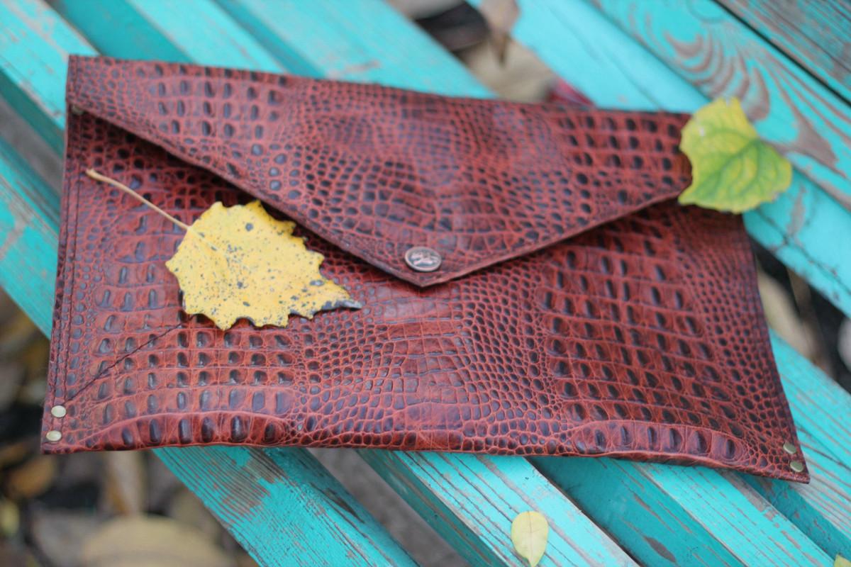 Кожаный клатч-конверт «Амазонка»