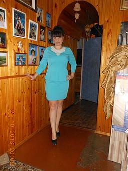 Работа с названием Платье с баской