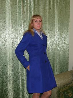 Работа с названием Синее пальто для осени