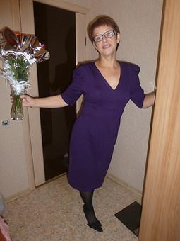 Работа с названием Мое сине- фиолетовое платье