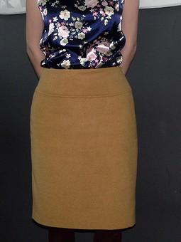 Работа с названием юбка из остатков от пальто