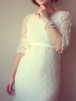 Работа с названием Нежное мохеровое платье