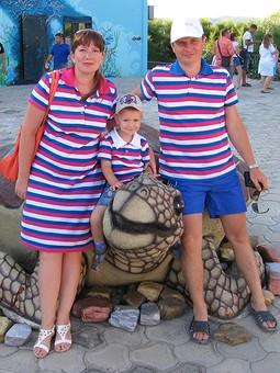 Работа с названием Family Look - поло для всей семьи