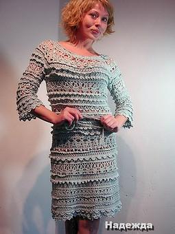 Работа с названием Шелковое вязаное платье Оливия ментол