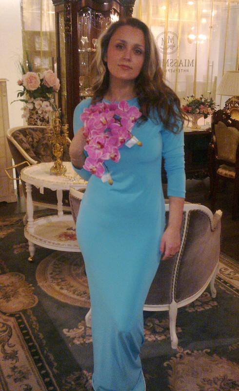 Трикотажное платье впол от Nina-Cherry