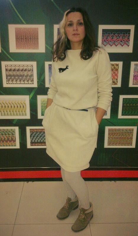 Теплое платье нахолодные зимние дни от Nina-Cherry