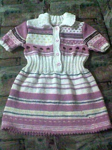 Вязаное платье длядочки