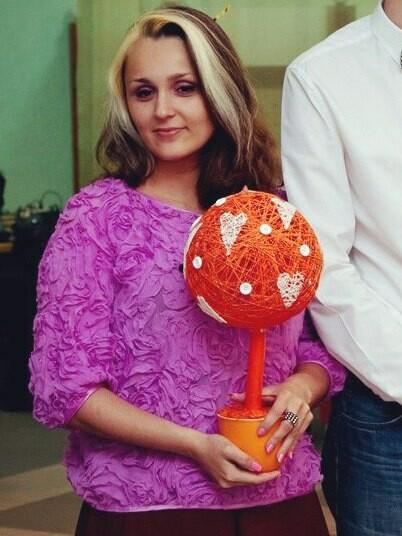 Блуза сшифоновыми цветами от Nina-Cherry