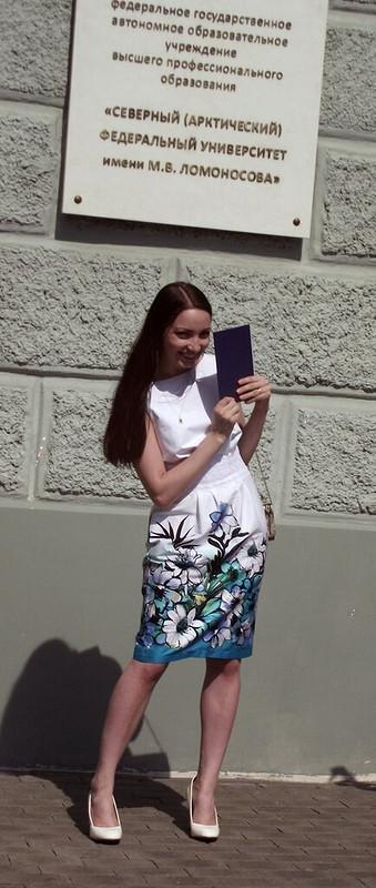 платье сцветами от Кристинка Лебедева