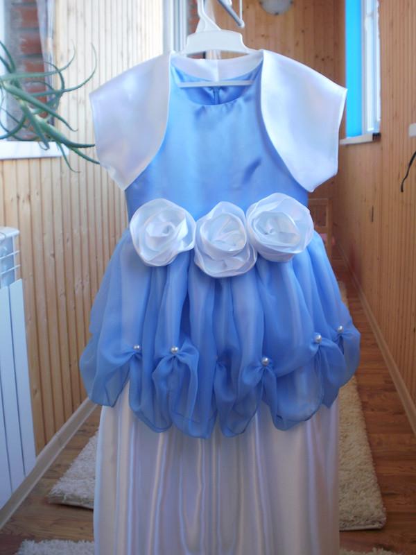 Праздничное платье. «Белые розы» от Ева НН